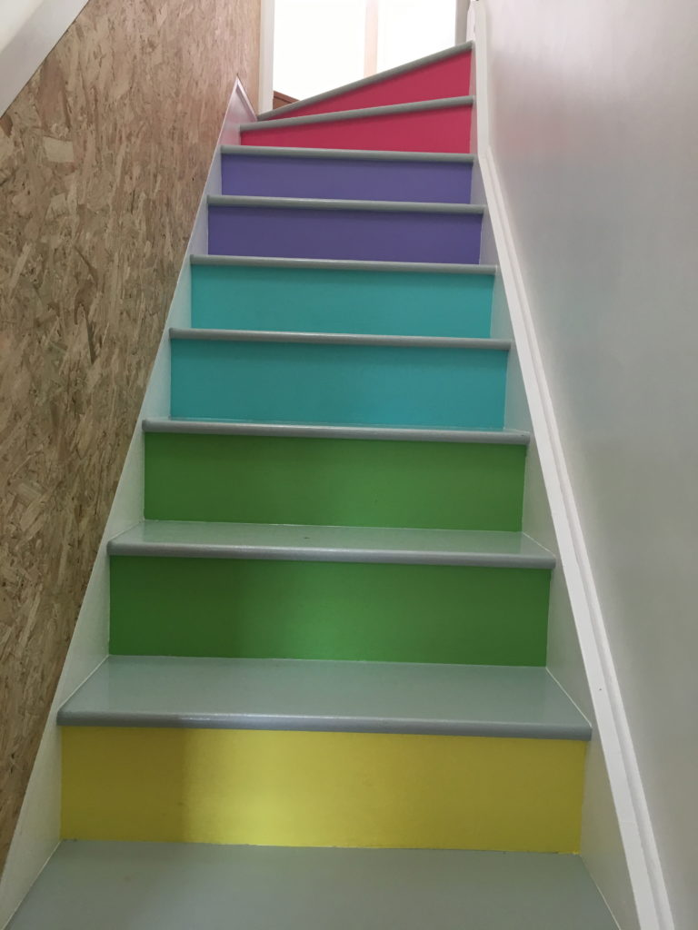 Matspace - rainbow staircase to the studio