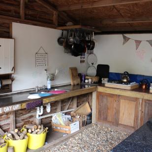 Kitchen at Alde Garden Campsite