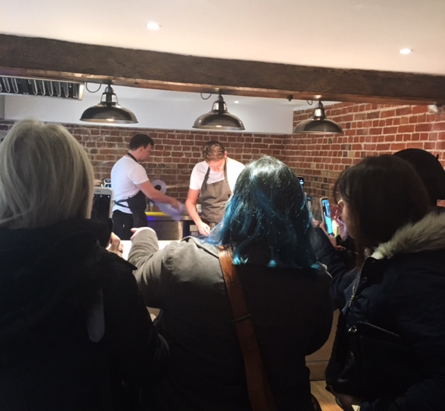 Bloggers exploring Forage Kitchen at Blackthorpe Barn