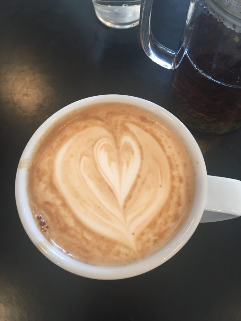 My attempt at Heart Latte Art at Paddy & Scott's