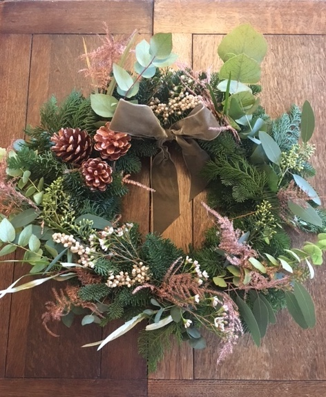 Rose gold wreath - Wreath Making at the Northgate