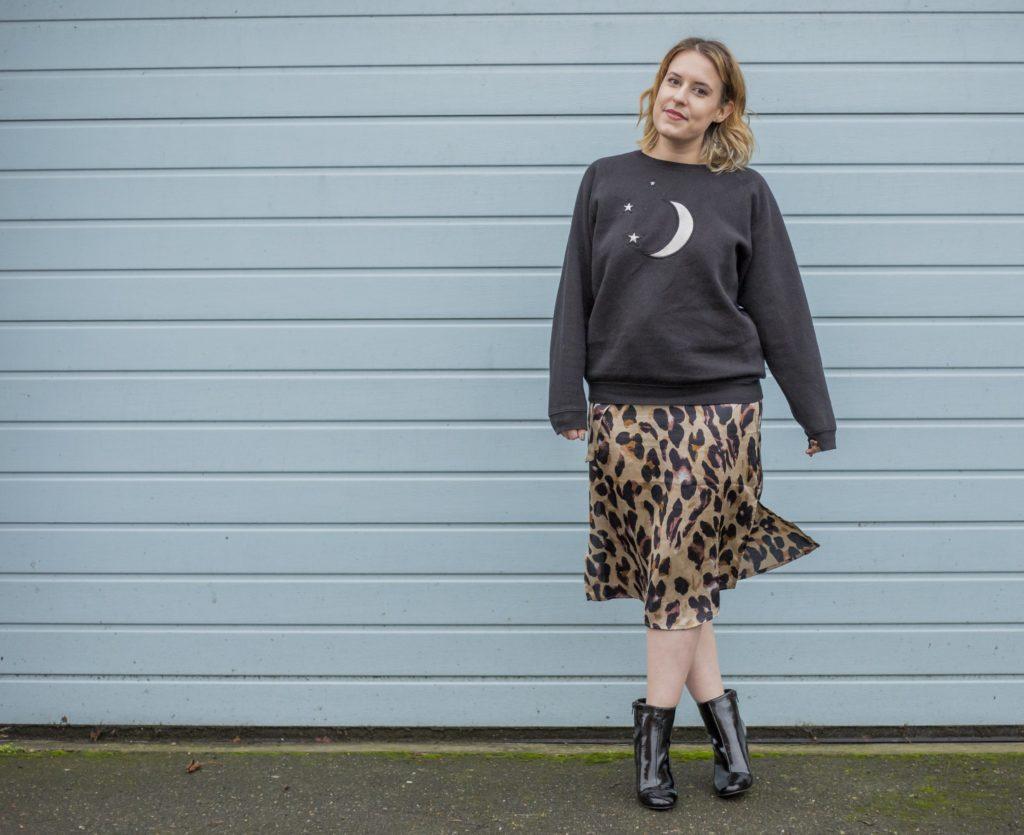 Alphabet Sweats star print jumper