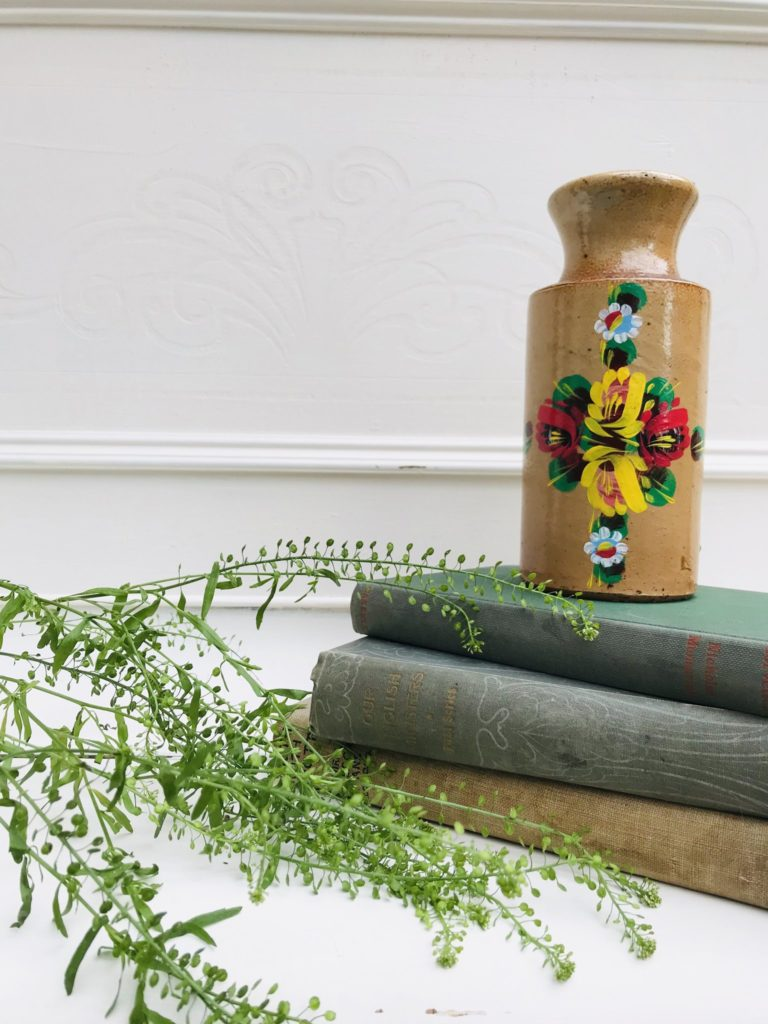 Handpainted floral vase from Stone & Sage