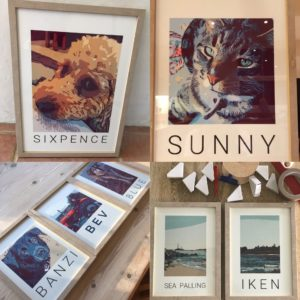 Personalised animal prints, Mustard Pot Productions