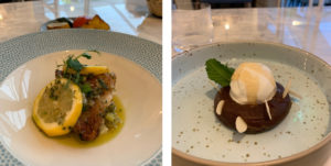Mains and dessert at The Hog Hotel