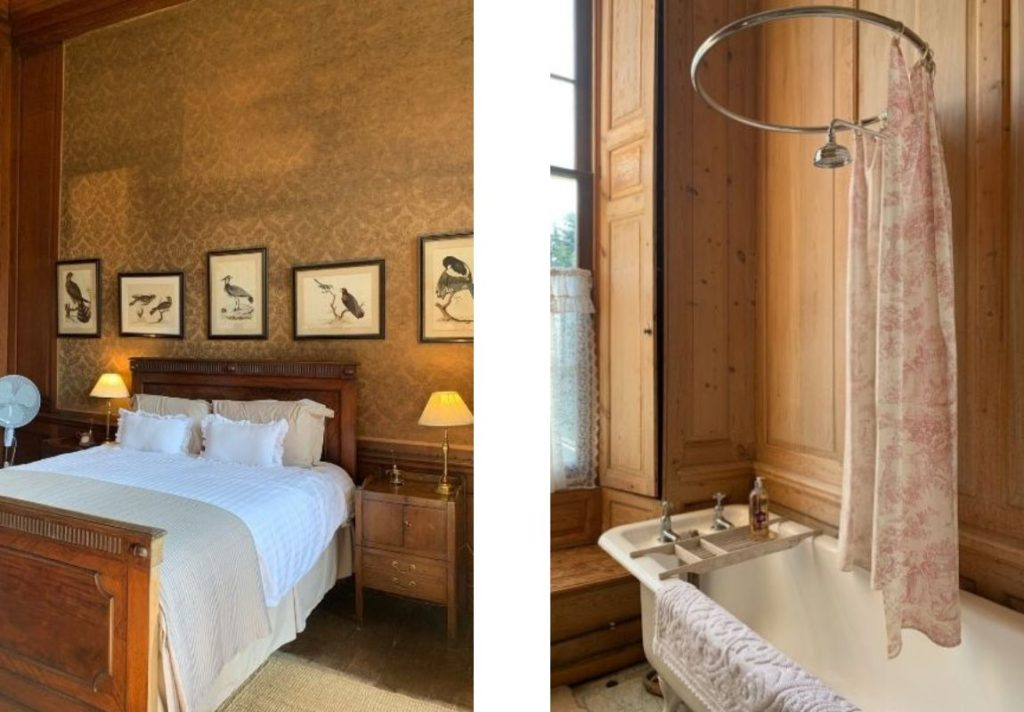 Bedroom and bathroom Glemhall Hall House Tour