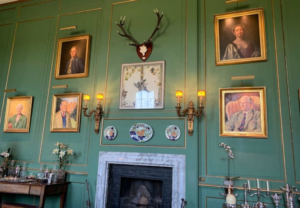 Dining room at Glemham Hall House Tours