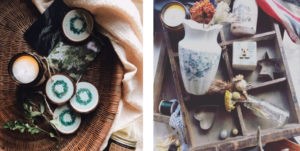 Stone & Sage Hygge Boxes with decorative items, vases and vintage items