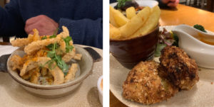 Calamari and fishcakes at The Beagle Ipswich
