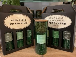 Hydro-herb kit, single kit £14, gift set of 3 £35, Good Glass, Wicked Wicks