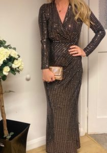 Sequin maxi dress, £55