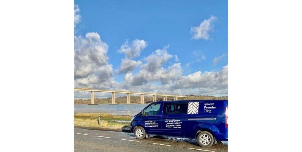 Suffolk spotlight van by Orwell bridge