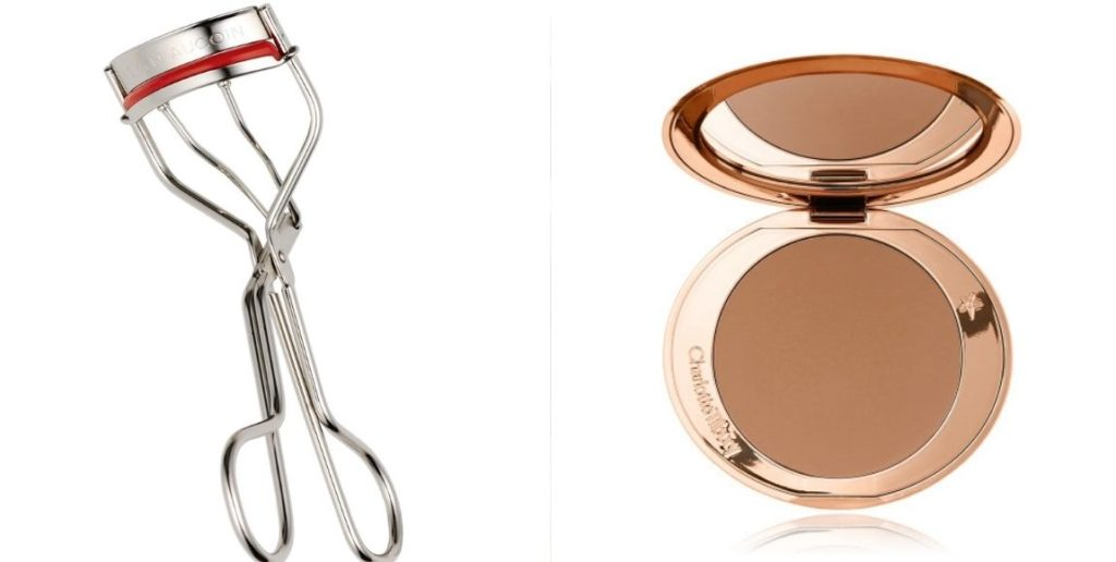 eyelash curler and blusher
