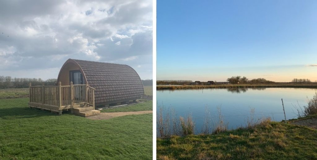 small business spotlight: mill hill farm glamping pods by a lake
