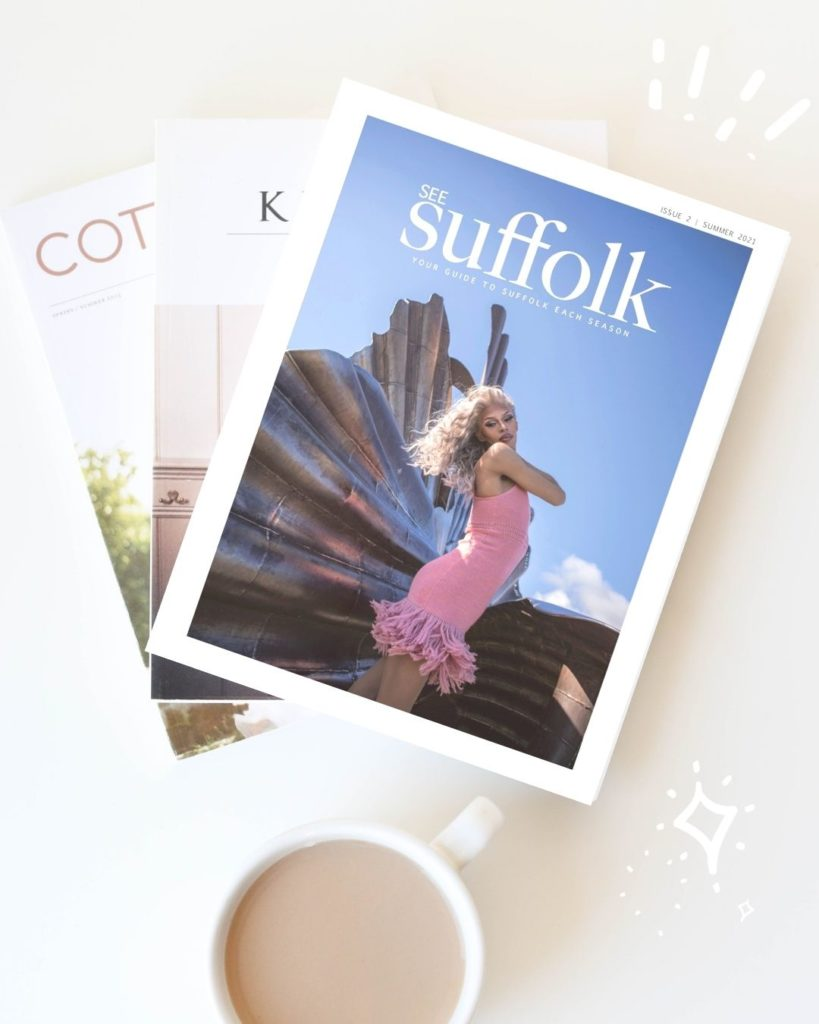 See Suffolk Summer Magazine 3 magazines and a cup of tea