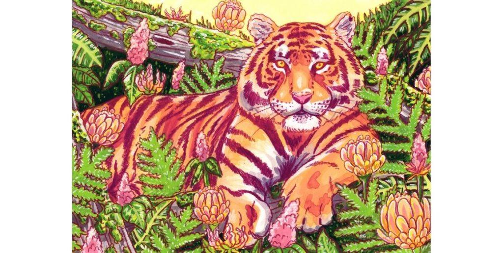 Artist Nicky Durham's Tiger