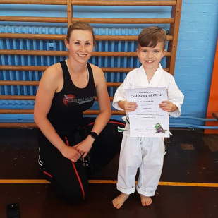 Little dragon after completing a grading