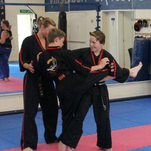 Maisie Emmerson's Black Belt Academy in class
