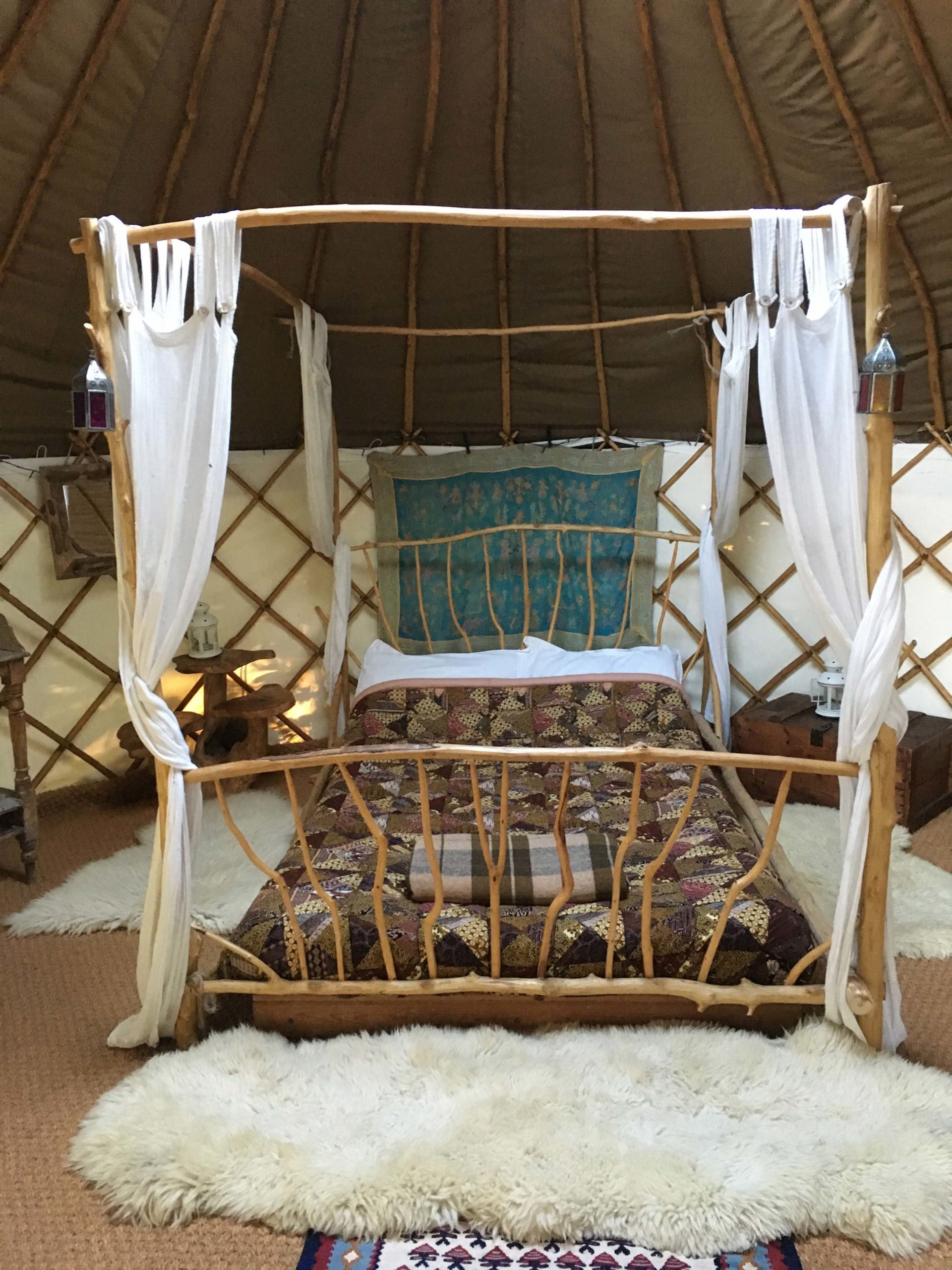 Barn Owl Yurt at Alde Garden Campsite