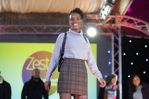 Check Skirt from Zest Ipswich
