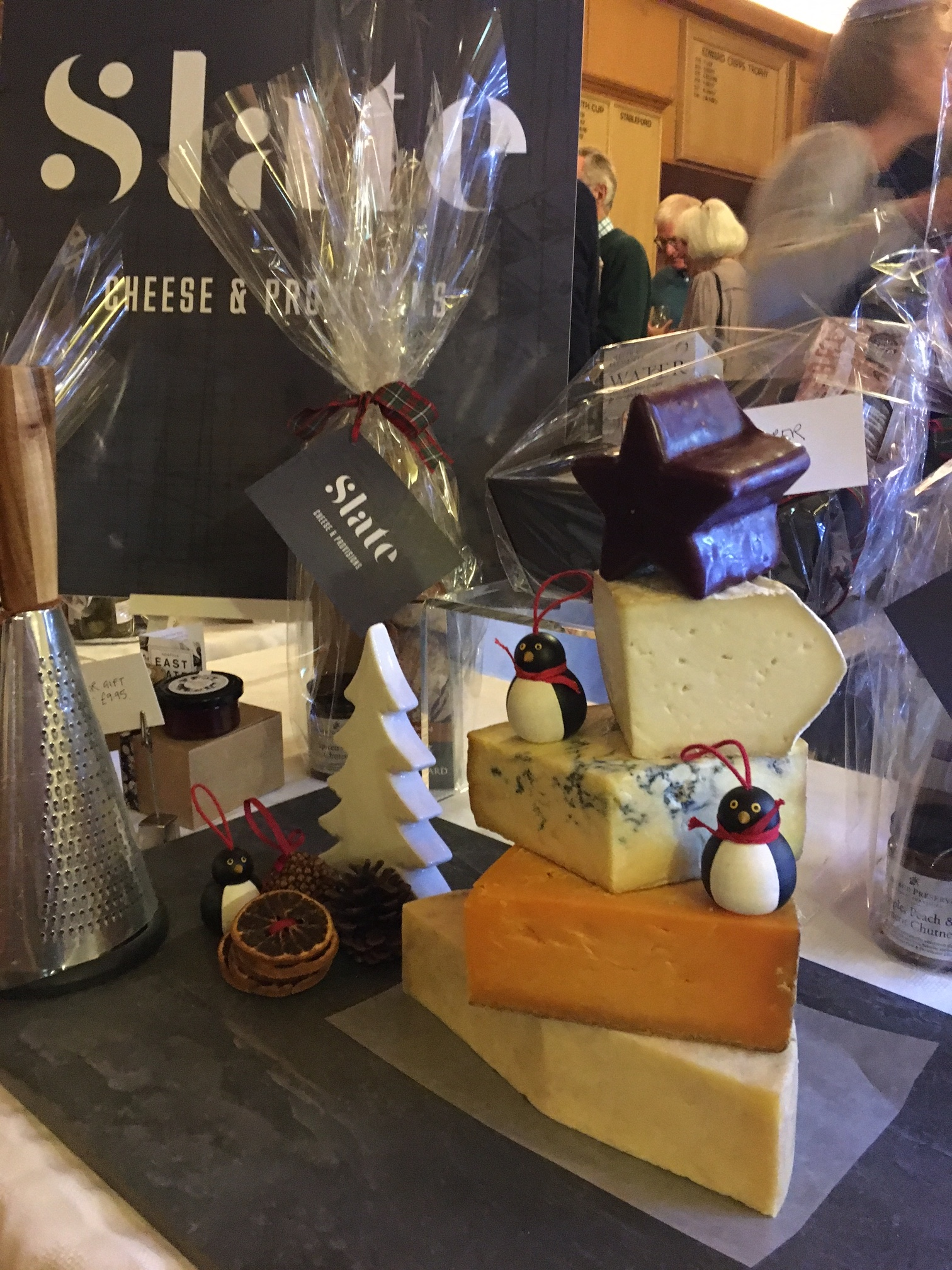 Slate Cheese Christmas Tree - Man Like Wine and Slate Cheese Tasting Evening