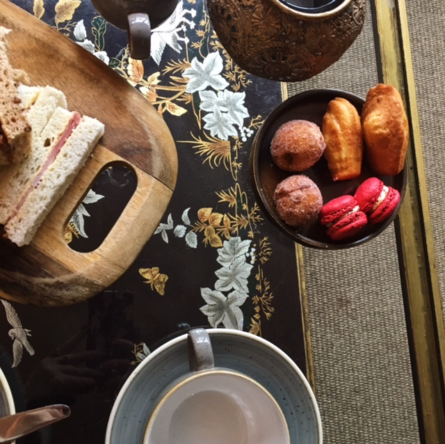 Afternoon tea flatlay - Wreath Making at the Northgate