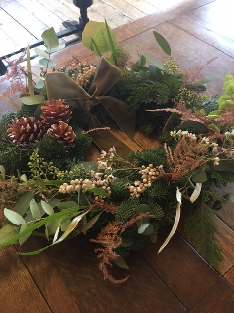 Finished Wreath - Wreath Making at the Northgate