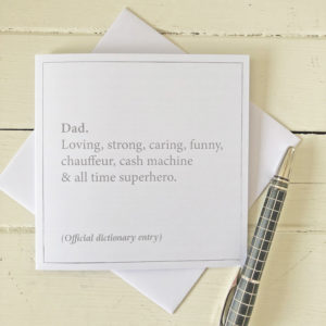 Dictionary definition card, £2.50, Cosy Room Designs