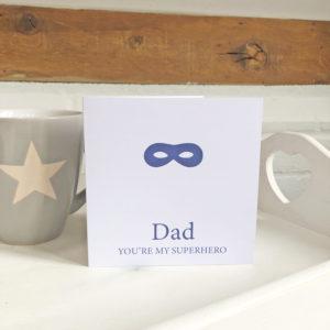 You're my superhero card, £2.50, Cosy Room Designs