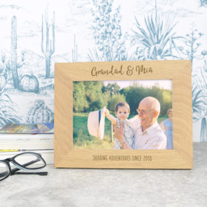 Grandad and me Father's Day solid oak photo frame, £17.95