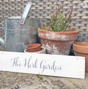 Hand painted wood garden sign - The Herb Garden, £10