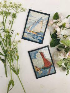 1950 Embroidery Framed Artwork, £4.00