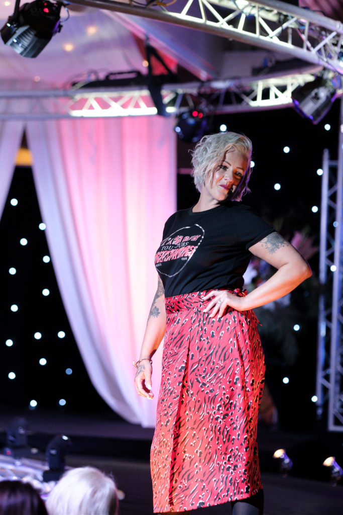 patters on the runway at the Suffolk Fashion Show 2019