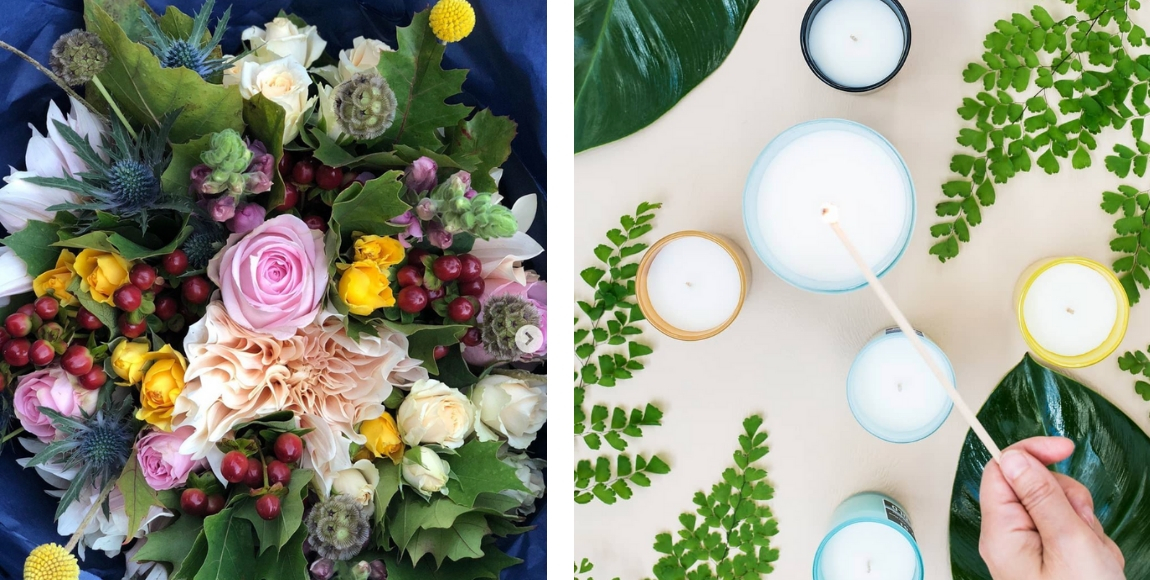 small business spotlight - floristry and candle business
