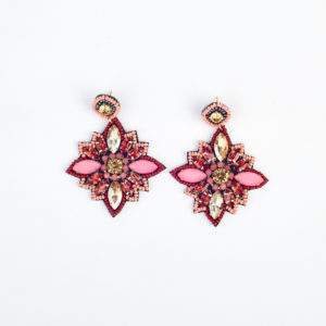 My Doris Gem Flower Earrings £20