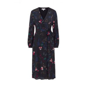 Emily & Finn Party Print Wrap Dress £145